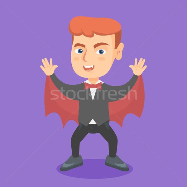 Jongen vampier kostuum halloween jonge Stockfoto © RAStudio