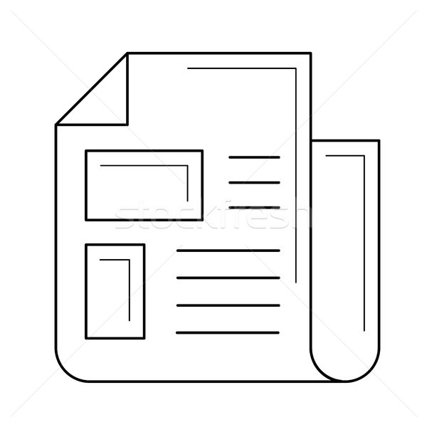Publishing newspaper line icon. Stock photo © RAStudio