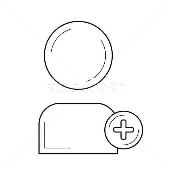 Add plus user line icon. Stock photo © RAStudio