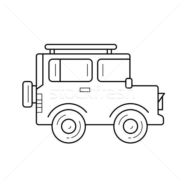 Off-road car line icon. Stock photo © RAStudio