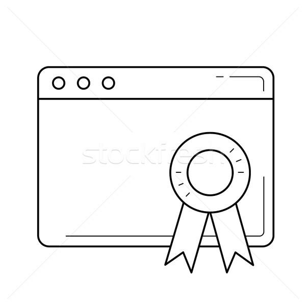 Pagina lijn icon vector geïsoleerd Stockfoto © RAStudio