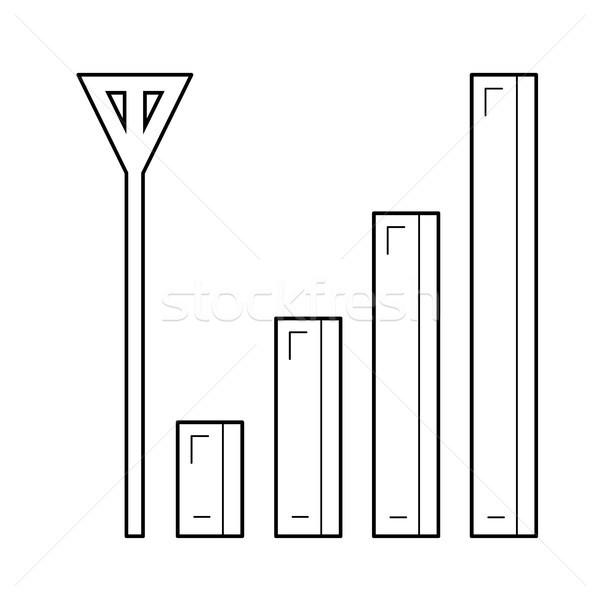 мобильного телефона сигнала линия икона вектора изолированный Сток-фото © RAStudio
