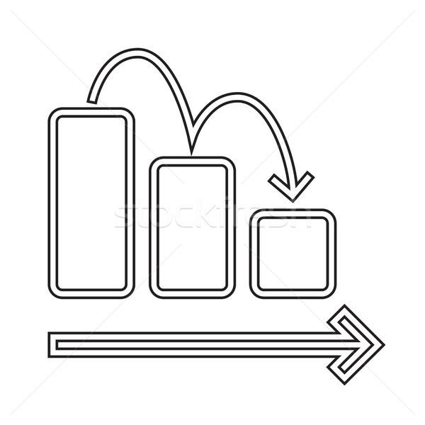 Grafiek vector lijn icon geïsoleerd witte Stockfoto © RAStudio