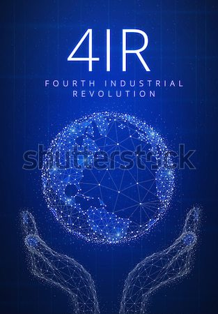 ICO initial coin offering futuristic hud banner with bitcoin sym Stock photo © RAStudio