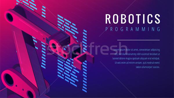 Isometrica robot braccio robotica programmazione studio Foto d'archivio © RAStudio