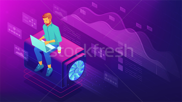 Isometric web developer concept. Stock photo © RAStudio