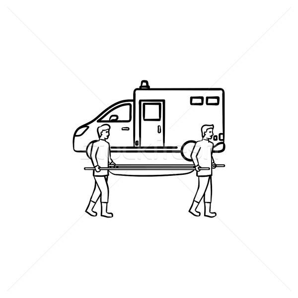 Pilny opieki gryzmolić ikona Zdjęcia stock © RAStudio