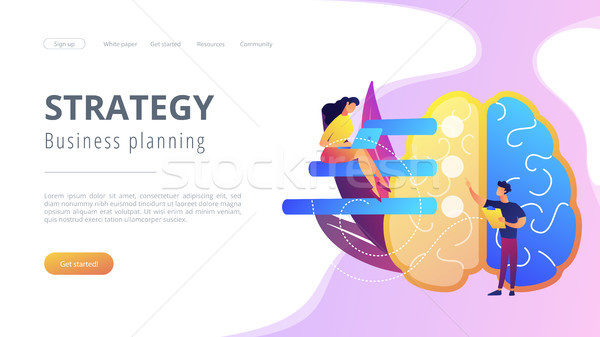 Strategy and business planning landing page. Stock photo © RAStudio
