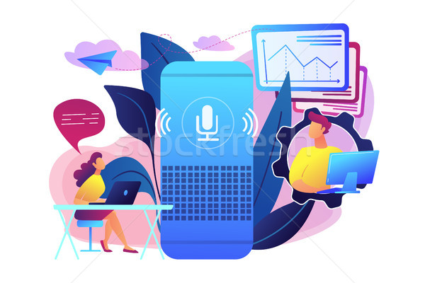 Smart speaker office controller concept vector illustration. Stock photo © RAStudio