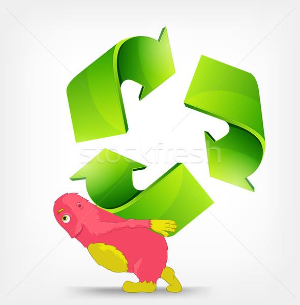 ストックフォト: リサイクル · にログイン · モンスター · ベクトル