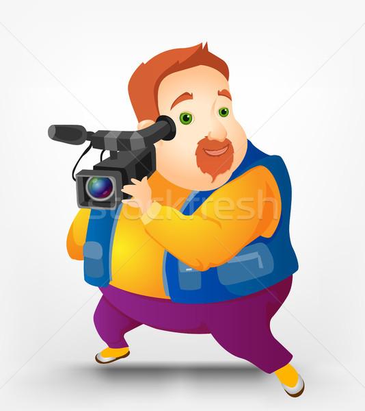 Cheerful Chubby Men Stock photo © RAStudio