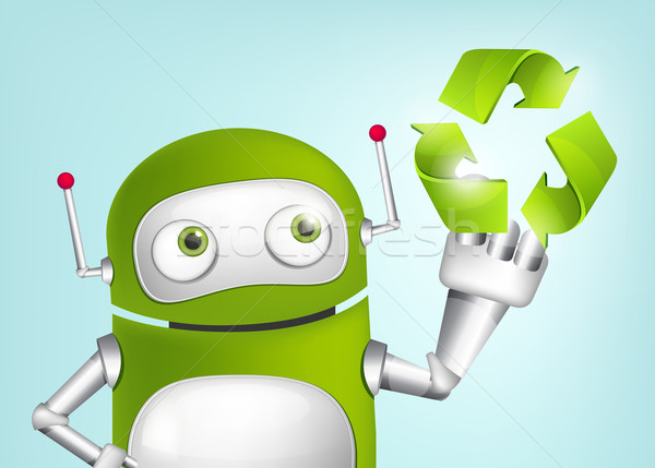 Green Robot Stock photo © RAStudio