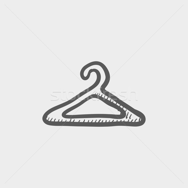 Wieszak szkic ikona internetowych komórkowych Zdjęcia stock © RAStudio