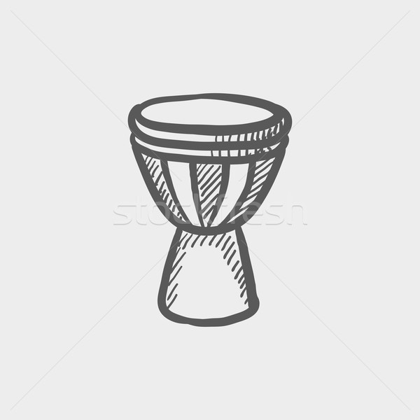Stock photo: Timpani sketch icon
