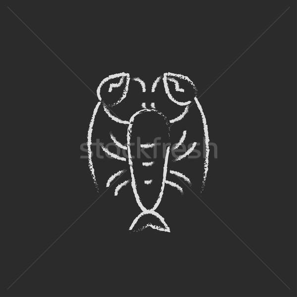 Aragosta icona gesso lavagna Foto d'archivio © RAStudio