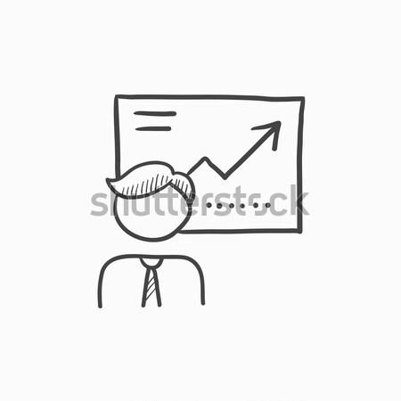 бизнеса презентация икона мелом рисованной Сток-фото © RAStudio