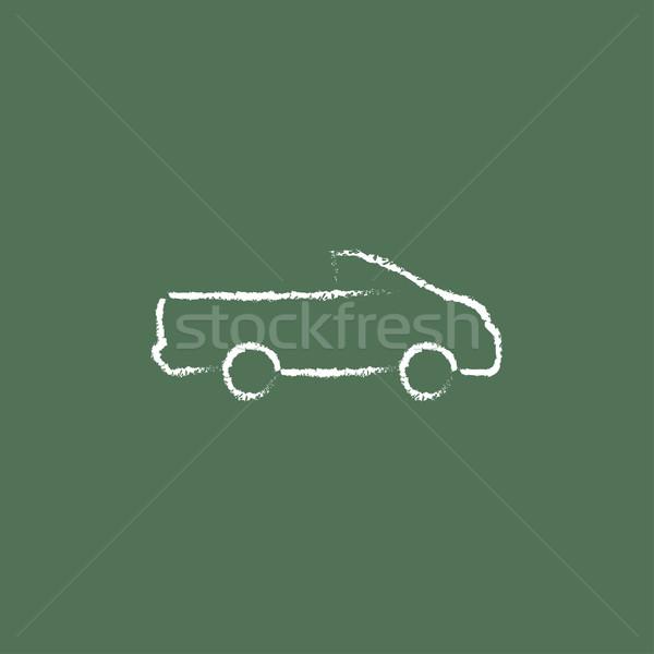 Pick up truck icon drawn in chalk. Stock photo © RAStudio