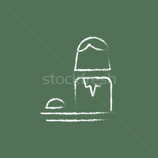 Női recepciós ikon rajzolt kréta kézzel rajzolt Stock fotó © RAStudio