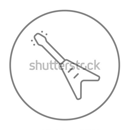 Electric guitar line icon. Stock photo © RAStudio