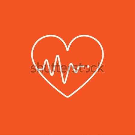 Сток-фото: сердце · линия · икона · символ · веб