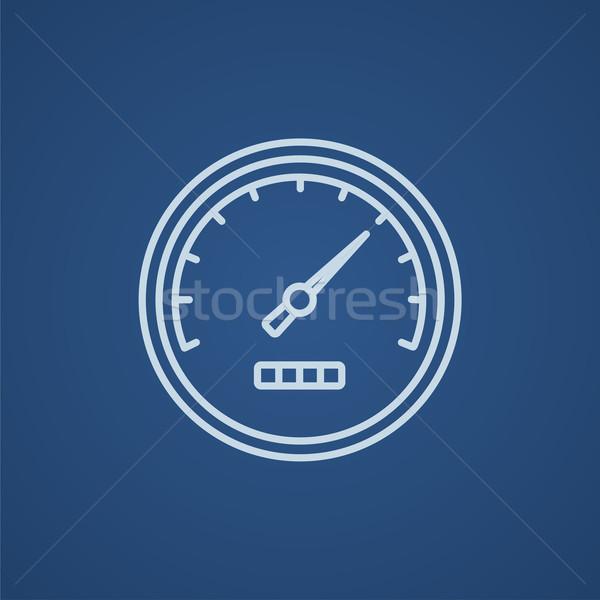 Sebességmérő vonal ikon háló mobil infografika Stock fotó © RAStudio
