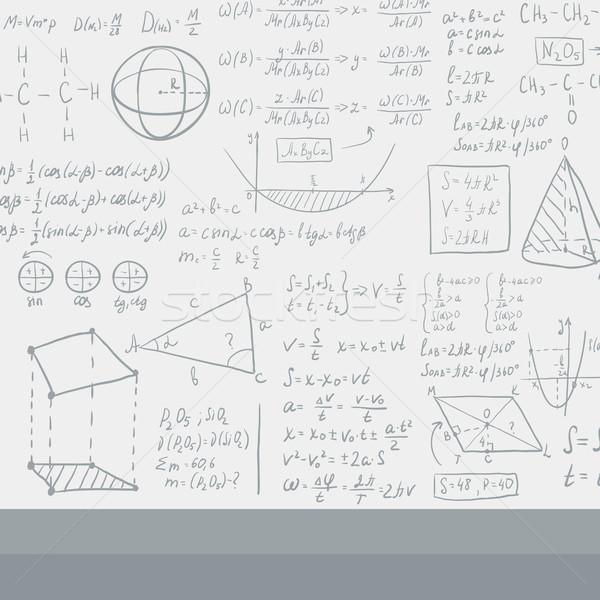 Blanche tableau noir mathématique vecteur design illustration Photo stock © RAStudio