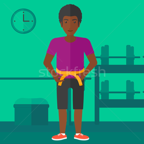 Man measuring waist. Stock photo © RAStudio