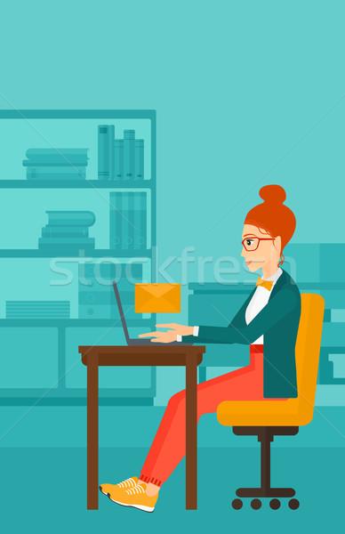 Woman receiving email. Stock photo © RAStudio