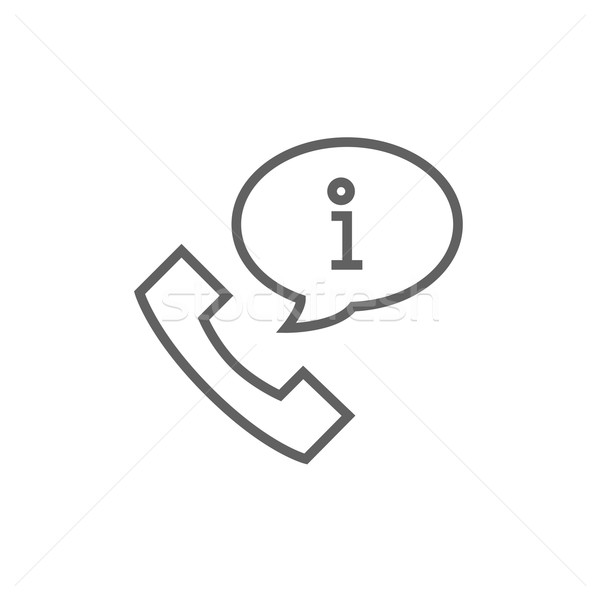 Handset with information sign line icon  Stock photo © RAStudio