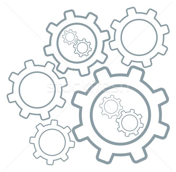 Grupo Cog ruedas vector diseno ilustración Foto stock © RAStudio