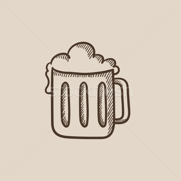 Mug of beer sketch icon. Stock photo © RAStudio