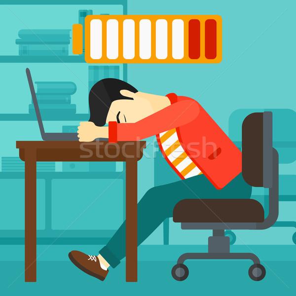 Employee sleeping at workplace. Stock photo © RAStudio
