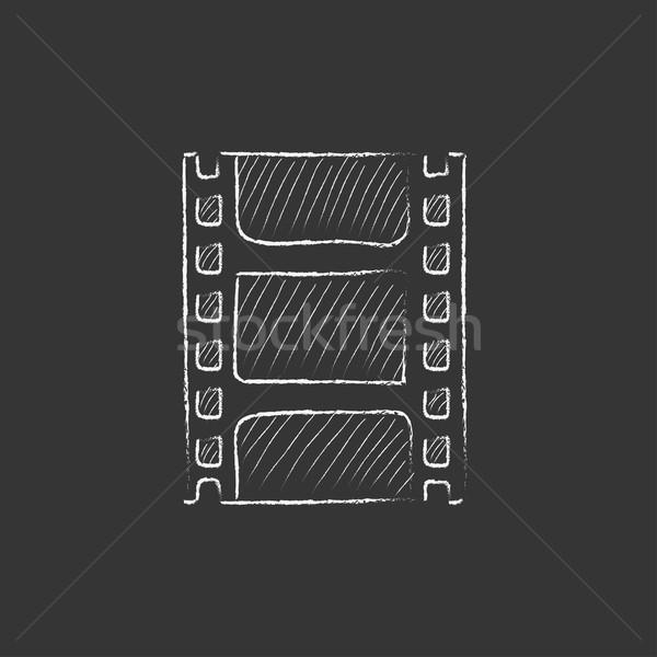 Negatív rajzolt kréta ikon kézzel rajzolt vektor Stock fotó © RAStudio