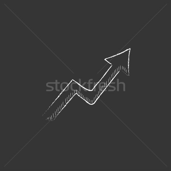 Arrow upward. Drawn in chalk icon. Stock photo © RAStudio