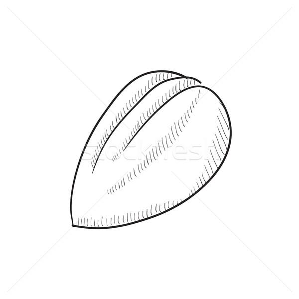 Almond sketch icon. Stock photo © RAStudio