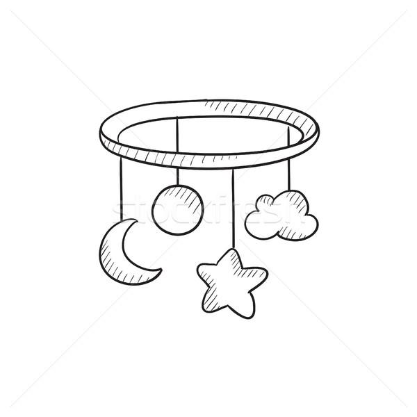 Carrousel schets icon vector geïsoleerd Stockfoto © RAStudio