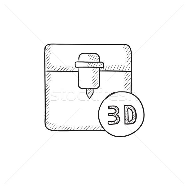 Tree D printing sketch icon. Stock photo © RAStudio