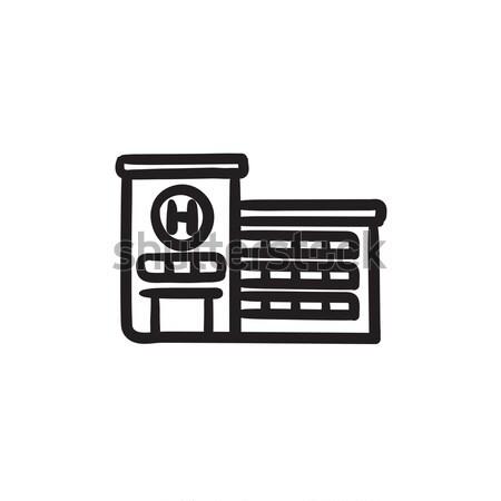 Hospital building sketch icon. Stock photo © RAStudio