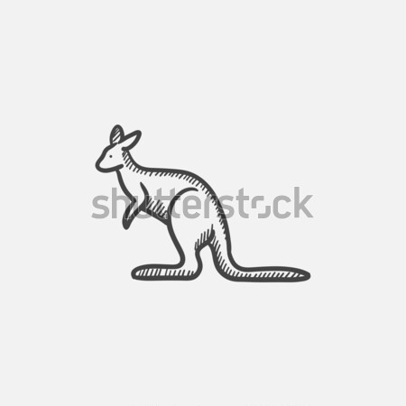Kangaroo sketch icon. Stock photo © RAStudio