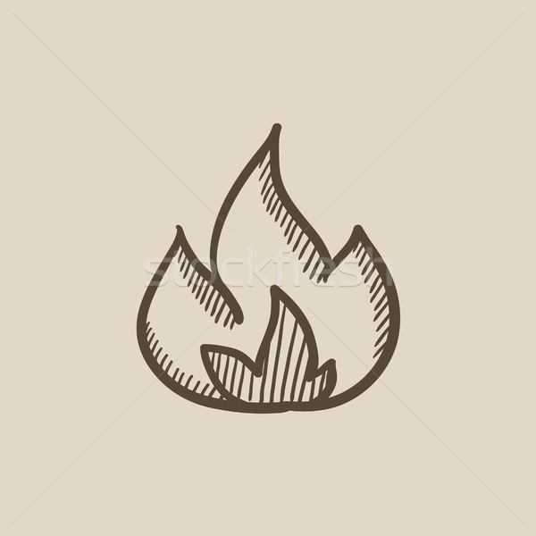 Fire  sketch icon. Stock photo © RAStudio