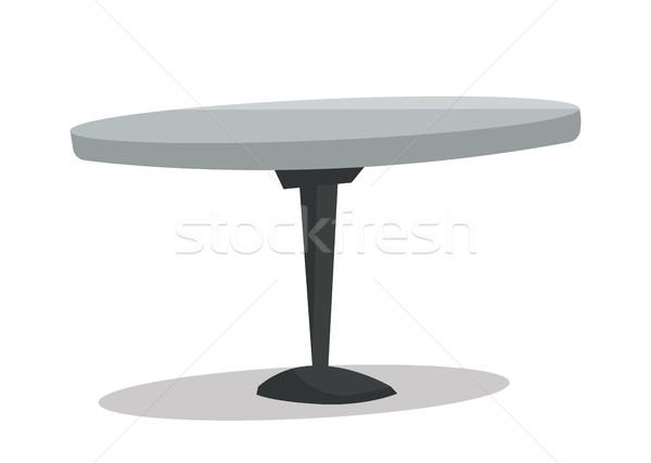 Round bar table vector illustration. Stock photo © RAStudio