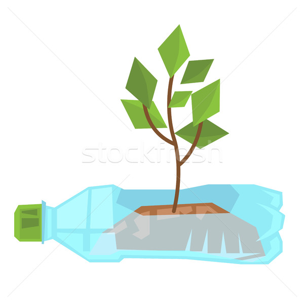 Stem growing in used plastic bottle. Stock photo © RAStudio