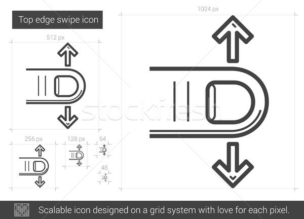 Top edge swipe line icon. Stock photo © RAStudio