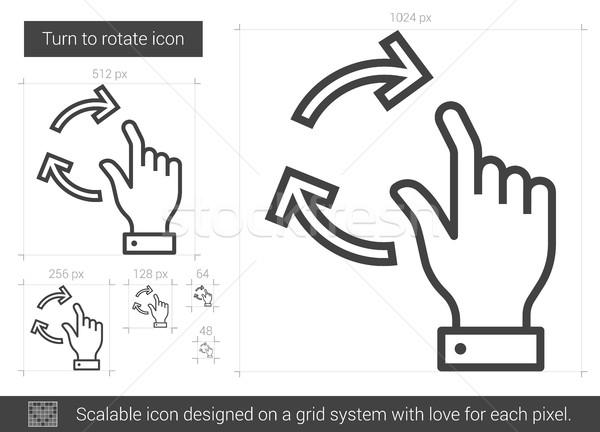 Turn to rotate line icon. Stock photo © RAStudio