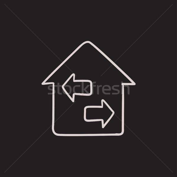 Property resale sketch icon. Stock photo © RAStudio