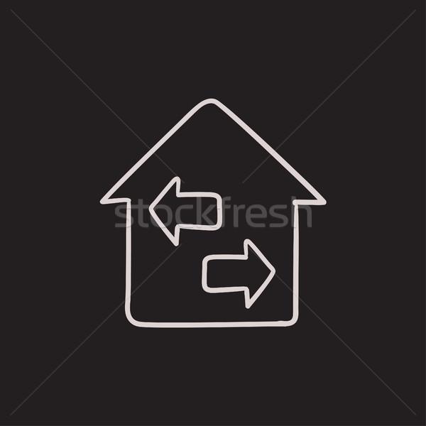 Propriété croquis icône vecteur isolé dessinés à la main Photo stock © RAStudio
