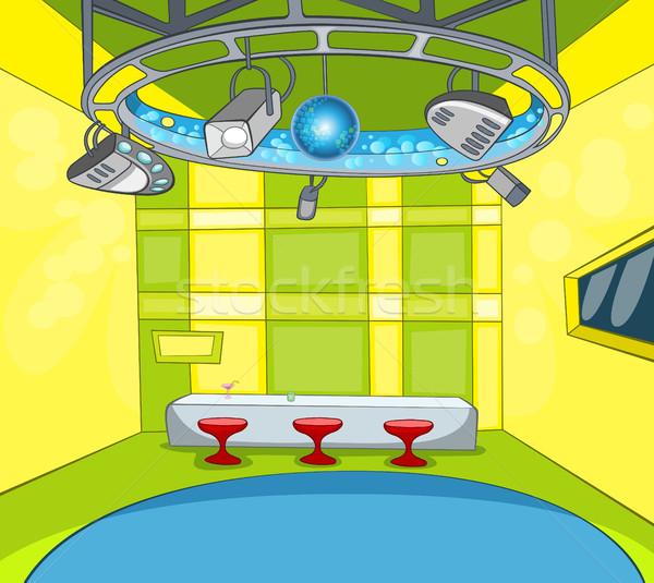 Cartoon background of tv studio interior. Stock photo © RAStudio