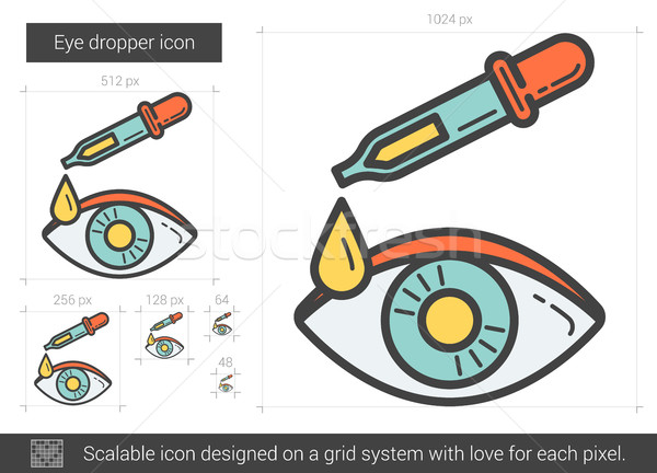 Stock photo: Eye dropper line icon.