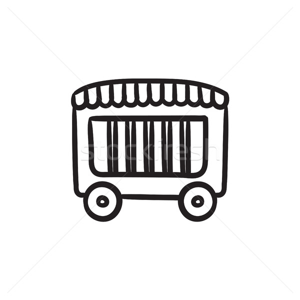 Circus wagon sketch icon. Stock photo © RAStudio