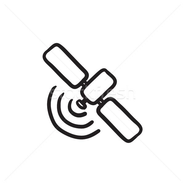 Satellite croquis icône vecteur isolé dessinés à la main Photo stock © RAStudio